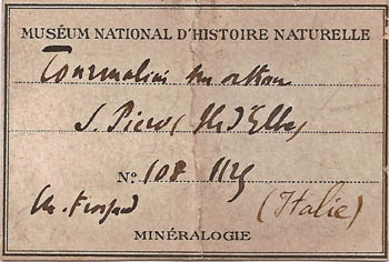 label: Tourmaline from the collection of the Museum National d'Histoire Naturelle, Paris